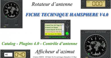 Fiche technique Rotor d'antenne et Afficheur d'azimut  – HamSphere V4.0