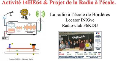 Activité 14HE64 & Projet de la Radio à l'école. (F5JFT)