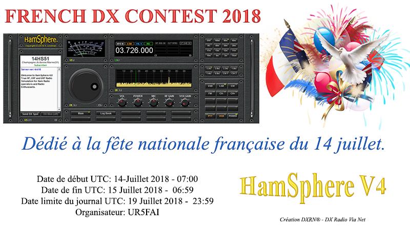 HamSphere 4.0 – Contest Fête Nationale Française du 14 juillet.