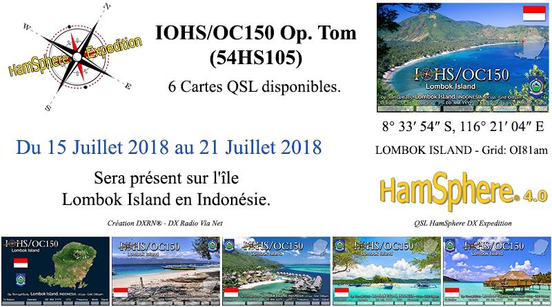 IOHS/OC150 – Expédition sur l'île Lombok Island en Indonésie.