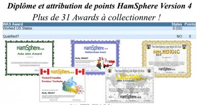 Diplôme et attribution de points HamSphere Version 4