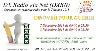 DX Radio Via Net – Organisation générale radio pour le Téléthon 2018