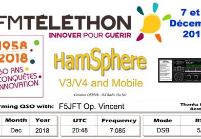 Téléthon 2018 sur Hamsphere V4/V3/VM et les bandes réelles.