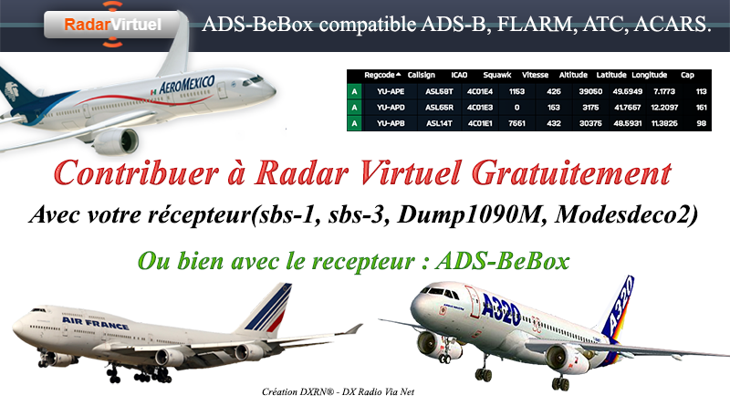 Contribuer à Radar Virtuel Gratuitement