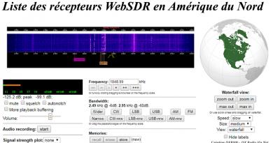 Liste des récepteurs WebSDR en Amérique du Nord