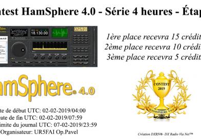 Contest HamSphere 4.0 – Série 4 heures – Étape 1