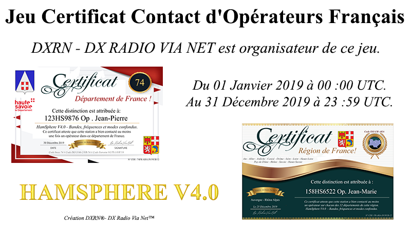 Jeu Certificat Contact d'Opérateurs Français