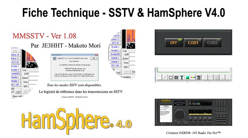 FICHE TECHNIQUE SSTV & HAMSPHERE V4.0